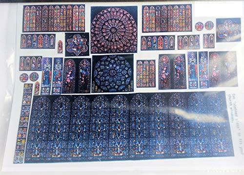 Langley Models Glasmalerei gemalt Film f?r Kirche Windows OO Skala F132a (Glasmalerei-film Für Windows)