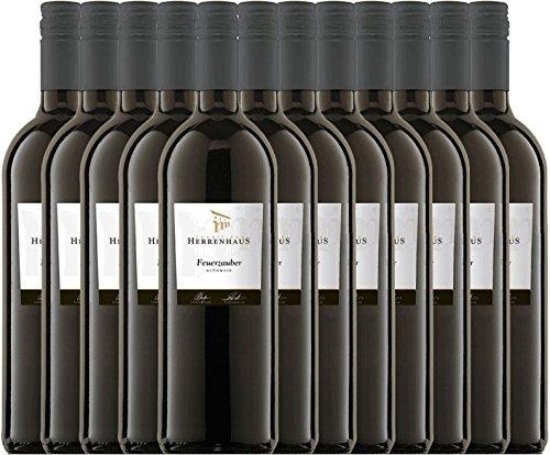 12er Paket - Roter Winzer-Glühwein Herrenhaus Feuerzauber - Lergenmüller | Glühwein | deutscher Glühwein aus der Pfalz | 12 x 1,00 Liter