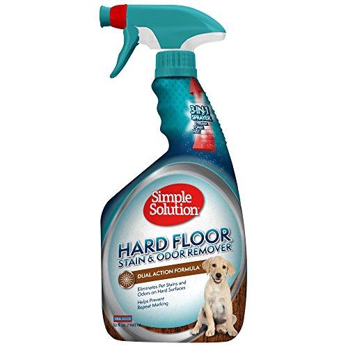 simple solution Einfache Lösung Hardfloor Pet Fleck & Geruch Entferner, Multi-Funktionalität Sprayer, 32oz, USA Made (Verpackung kann variieren)