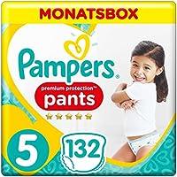 Pampers Premium Protection Pants, Gr.5 Junior, 12-17kg, Monatsbox, 1er Pack (1 x 132 Stück)