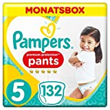 Pampers Premium Protection Pants, Gr.5 Junior, 12-17kg, Monatsbox, 1er Pack (1 x 132 Stück)