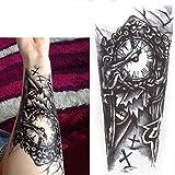 Rosenice Temporäre Tattoos Aufkleber Arm Fake Tattoos Langlebig für Männer 4 Blätter