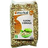 Flocons de céréales aux 5 céréales Bio - Avoine, blé, orge, riz et seigle | 500g | Markal