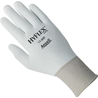 Ansell-Edmont 11-600-8 Hyflex Lite Assembly Gloves, Size 8 (Medium), 12 Pairs/Pkg. by Ansell