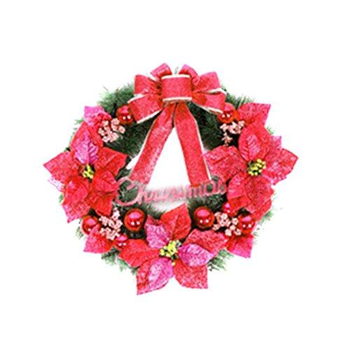 Sexyville Weihnachten Partei Blatt Herbst Tür Krone Tür Wand Ornament Thanksgiving Day Decor rot