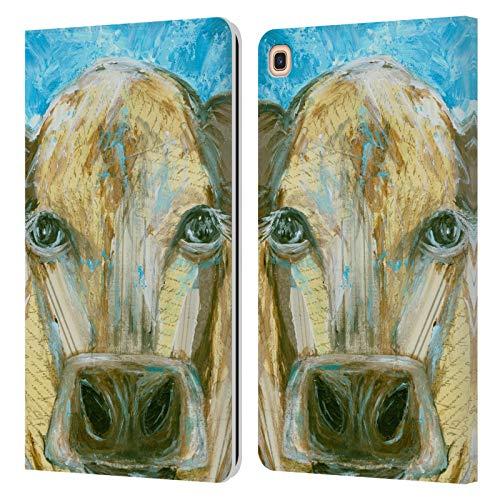Head Case Designs Offizielle Amanda Hilburn Toffee Die Kuh Tiere Leder Brieftaschen Huelle kompatibel mit Galaxy Tab A 8.0 & S Pen 2019 -