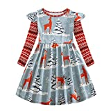 Neugeborene Kleinkind Baby Mädchen Weihnachten 15D Elf Elch Gedruckt Baumwolle Langarm T Shirt...