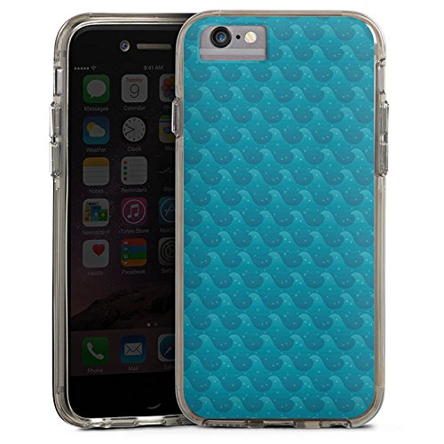 Apple iPhone 6s Bumper Hülle Bumper Case Glitzer Hülle Wellen Ocean Meer Bumper Case transparent grau