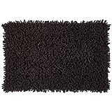 MSV Badmat Chenille 60x40cm van katoen in zwart, microvezel, 60 x 40 x 15 cm