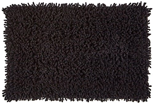 MSV 140842 Alfombras de algodón negro de 60 x 40 x 0,1 cm