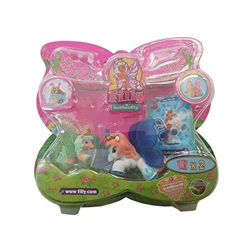 Lively Moments Filly Butterfly 1 Pferdchen & 1 Baby mit Swarovskistein / Pferd / Spielzeug / Spielfiguren Victoria & Baby Sun