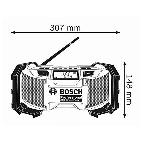 Bosch Professional Akku-Baustellenradio GML SoundBoxx (14,4-18V, 2x AAA Batterien, im Karton)