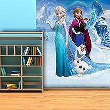 Walplus VP-249Z-WH5W - Mural de pared para niños, diseño Disney Frozen, papel pintado, 202 x 243 cm