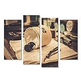 islandburner Quadro moderno Accessori da barba nel negozio di barbiere Stampa su tela - Quadri moderni x poltrone salotto cucina mobili ufficio casa - fotografica formato XXL tantissime misure e formati disponibili JLX-4erP-IT