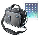 """DURAGADGET sacoche luxe de transport noir/bleu résistante pour Apple iPad Air tablette 9,7"""" (5ème génération sortie 2013) ios7 écran Retina Wi-Fi & Wi-Fi + 4G LTE 64 bits 16 Go 32 Go 64 Go 128 Go"""