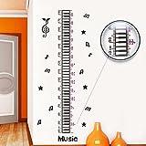 Pegatina de pared adhesivo decorativo medidor infantil letras de musica