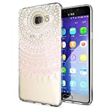 NALIA Handyhülle für Samsung Galaxy A5 2016, Slim Silikon Motiv Case Hülle Cover Crystal Schutzhülle Dünn Durchsichtig Etui Handy-Tasche Backcover Transparent Phone Bumper, Designs:Mandala Pink
