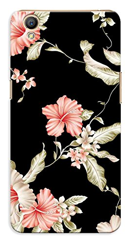 Kaira Printed Designer Back Case Cover for Oppo A37 (Blackflower)