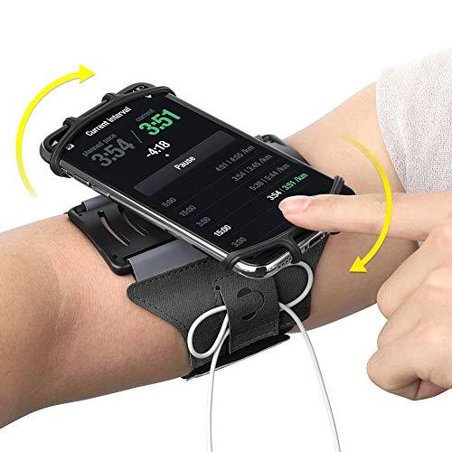 VUP Laufarmband für iPhone X/8 Plus/8/7 Plus/7/6S Plus/6S/6/5S/SE, 180 drehbare Sport-Workout-Handy-Halterung für Samsung Galaxy S8/S7 Edge/S6, Google Pixel/Nexus 6P, LG und mehr