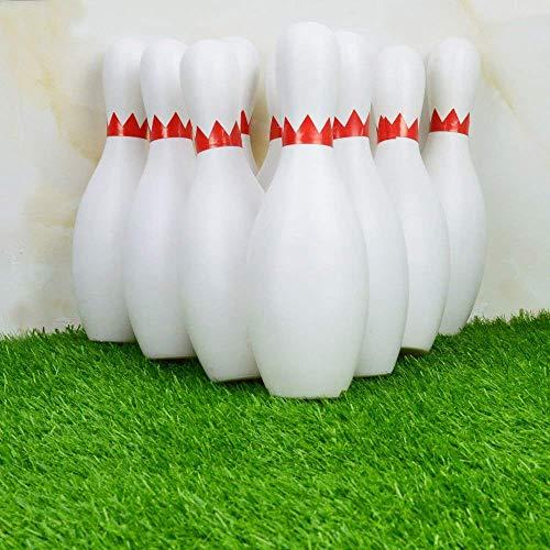 SOWOFA Bowling Set Spielzeug Spiel 10 Pins 2 Bälle Klassische Vintage Indoor Kunststoff Tragbare Tasche Big Large für Kinder Baby Boy Toddlers