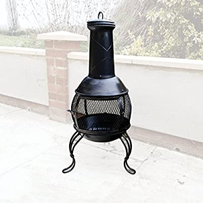 Classical Chiminea Outdoor Garden Patio Heater Log Burner for BBQs Camping from KCT Leisure