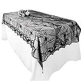 Awtlife tovaglia in pizzo in stile tela di ragno, gotica, per decorazioni di Halloween, 122 x 244 cm