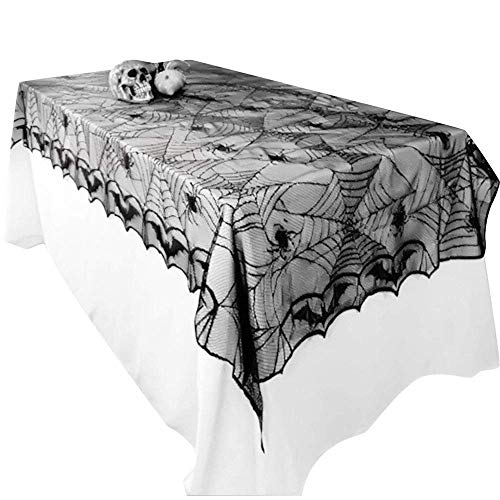 mit Spinnennetz-Design, Gothic-Stil, für Halloween / Party-Dekoration, 122 x 244 cm ()