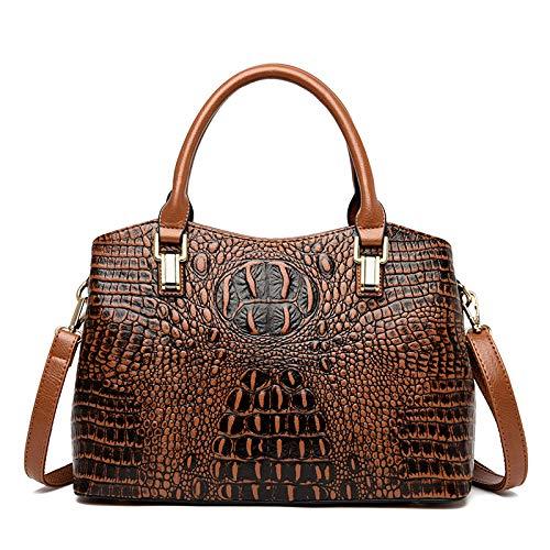 Europäischen Und Amerikanischen Handtaschen Big Bag Trend Pu Umhängetasche Große Kapazität Krokoprägung Frauen Tasche Mode Temperament