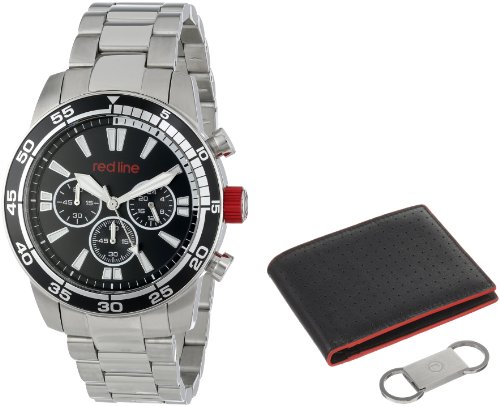 red line Men's RL-60006-SET Cruiser Chronograph Black Dial Stainless Steel Watch Set