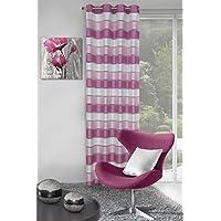 eurof irany ZAS/Bess/B + róż cortina cortina Bess, poliéster, rosa, 0.02X 140X 250Cm
