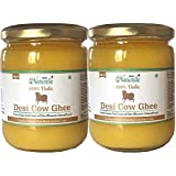 Farm Naturelle (Farm Natural Produce) (2 Glass Bottles x 500 ml)100% Desi Cow Ghee A2 Milk