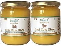Farm Naturelle-(2 Glass Bottles x 500 Ml + Free 1 Glass Bottle x 200 Ml)100% Vedic Pure Desi Cow Ghee from A2 Milk (1200 Ml)
