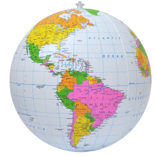 Jet Creations Inflatable Political Globe, 16-Inch by Jet Creations
