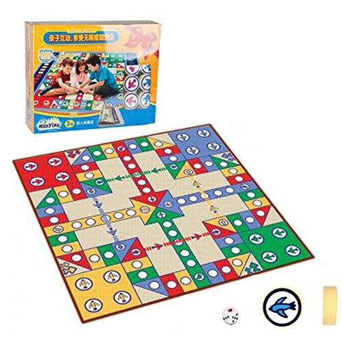 Kinder Schach Brettspiele Familienspiele Kinder Schach Spielzeug entwickeln Gehirn, Einseitige 80x80 Boxed Flying Card Decke