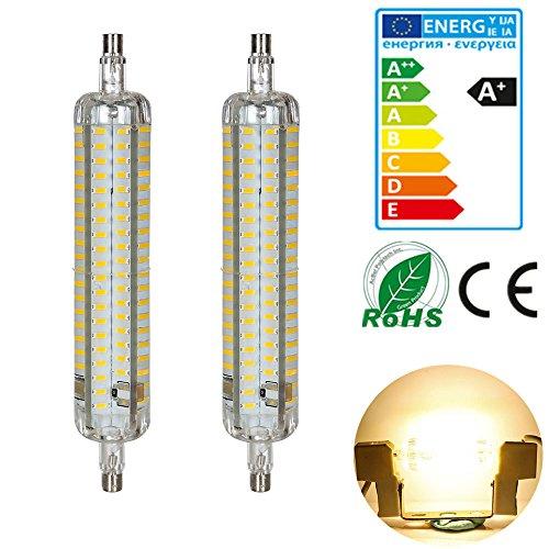 2xgreensun-r7s-ampoule-118mm-8w-led-152pcs-4014-smd-640lm-blanc-chaud-3500kelvin-360-dangle-de-faisc