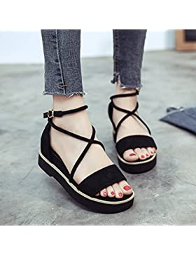 SDKIR-La ragazza sandali estivi, pan di spagna le donne spesso scarpe, wild pendenza con gli studenti di Roma...