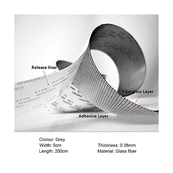 EasyULT-Nastro-per-Riparare-Zanzariere-Nastro-Adesivo-in-Fibra-di-Vetro-per-Finestre-InsettoAdesivo-Forte-con-Porte-Anti-Zanzara5cm-x-200cmGrigio