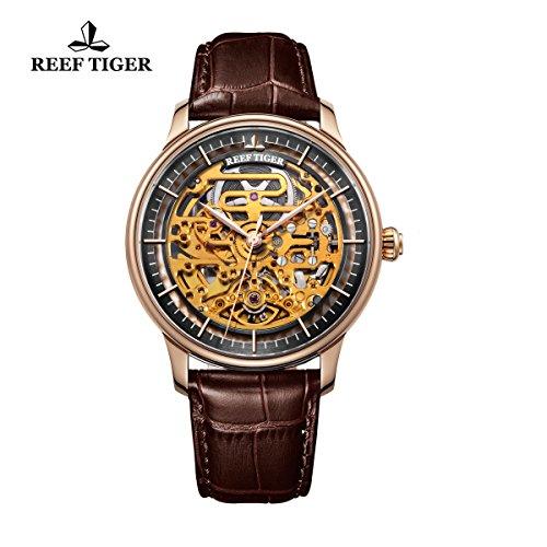 reef-tiger-automatica-negro-bisel-interior-cuero-marron-oro-rosa-reloj-rga1975