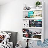 Floating Wand montiert Kinder Bücherregal Bücherregal Aufbewahrung Bücherregal zum Aufhängen Rack Kleinkinder Ständer weiß