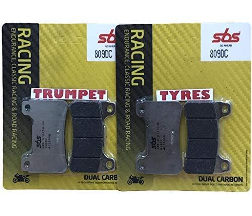 Honda Cbr600 RR CBR 600 RR 05 06 07 08 avant SBS Performance Double Course Carbone Frein Racing Set Plaquettes Qualité Fabricant 809dc