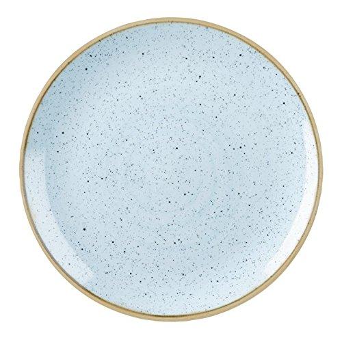 Churchill Stonecast - Juego de 12 Platos para Huevos de Pato, 16,5 cm, Color Azul