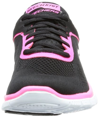 Skechers Flex Appeal Love Your Style, Chaussures de fitness femme Noir (Bkhp)