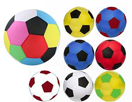 2 Stück riesige XXL Aufblasbare-Fussbälle mit Fleece Hülle, 50 cm Durchmesser. Super Spielball für den Garten, Pool, Freibad, Schwimmbad UVM.