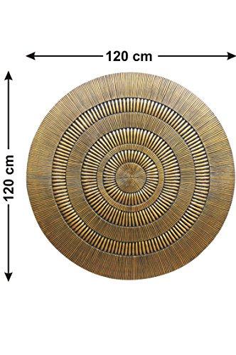 Orientalische Ornament Wanddeko aus Holz Bader 120cm gross XXL   Orientalisches Wandbild Wanpannel in Gold als Wanddekoration   Vintage Holzornamente als