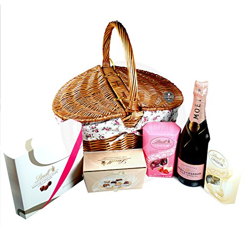 Moet And Lindt Luxury Afternoon Tea Hamper By Moreton Gifts Ideal Mother's Day / Birthday Gift
