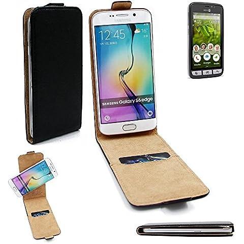 360° Caso Smartphone della copertura per doro 8031 stile vibrazione , nero, flip cover - K-S-Trade