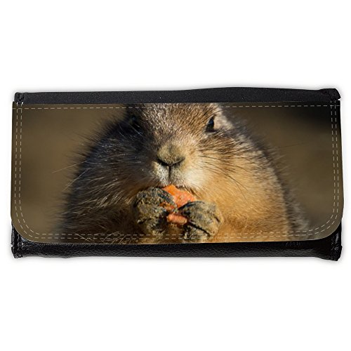 Cartera unisex // M00239698 Prairie Dog Eating Carino Piccolo // Large Size Wallet