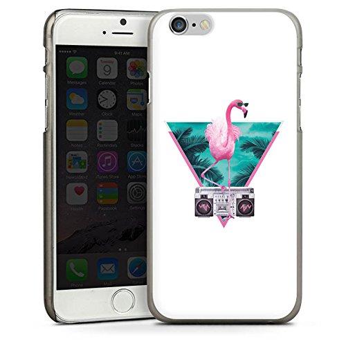 Apple iPhone 5s Housse Étui Protection Coque Flamand rose Triangle Triangle CasDur anthracite clair
