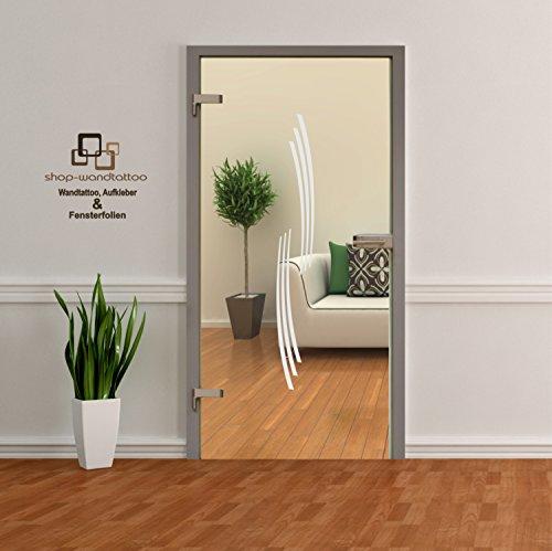 rs-interhandel Glastür Aufkleber Tattoo Folie Glasdekor Fensterfolie Sichtschutz Wohnzimmer oder für alle Glasflächen Sichtschutzfolie für Türen GDT002 Größenwahl