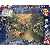Schmidt Spiele Puzzle 59492Thomas Kinkade, en la Noche de Navidad, Limited Edition, 1000Piezas